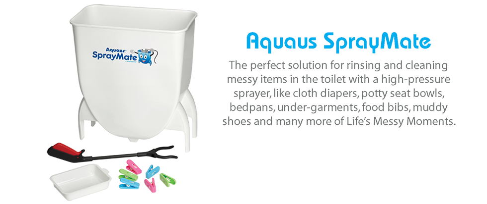 the perfect solution for rinsing and cleaning messy items in the toilet with a high-pressure Bidet or Diaper Sprayer for rinsing cloth diapers, potty seat bowls, bedpans, under-garments, food bibs, muddy shoes and many more