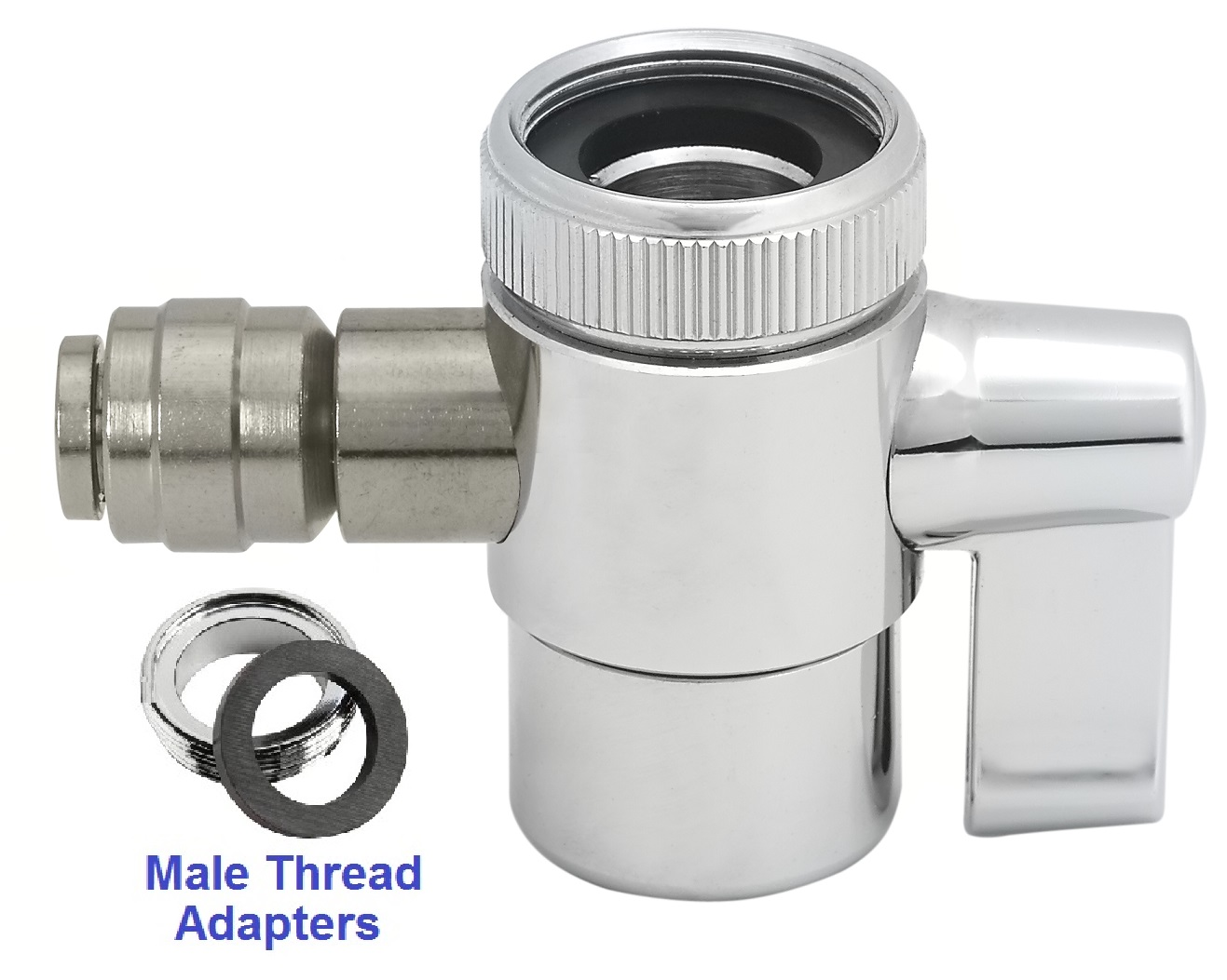 Faucet Diverter Valve W Push In Fitting For Polymer Hose