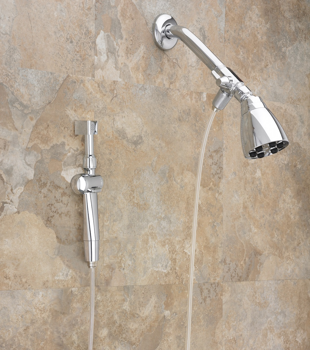 head arm nickel brushed adapter pipe riser dual or bathroom shower for hand