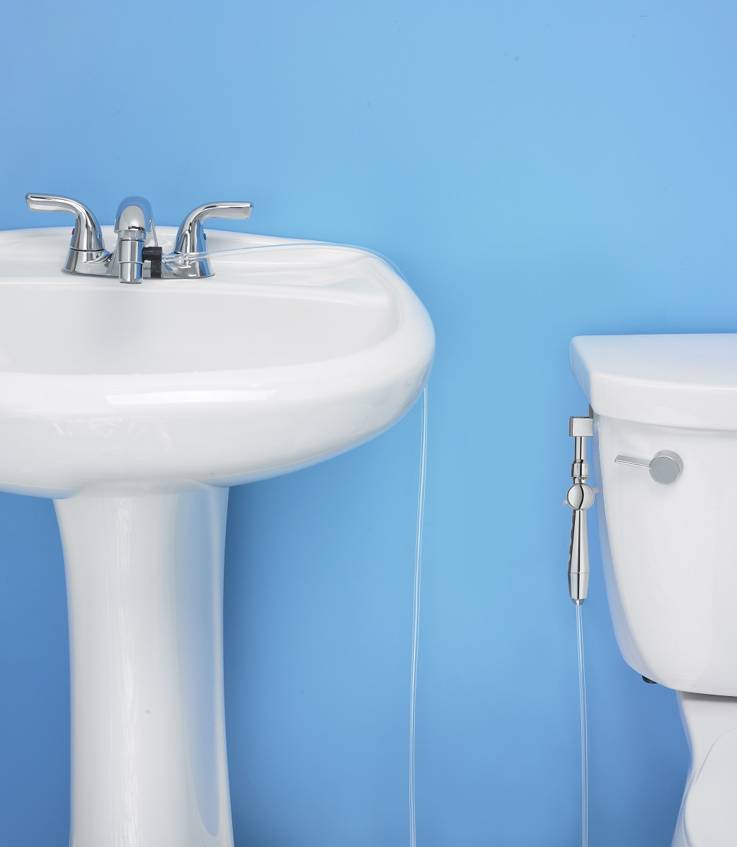 Aquaus 360 Hand Held Bidet for toilet - Shattaf : RinseWorks