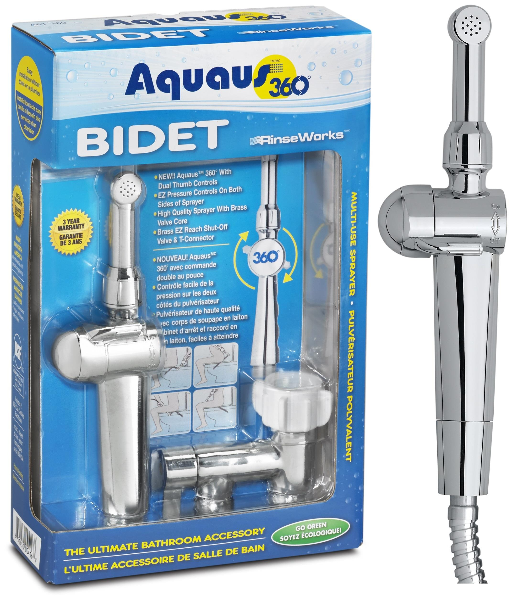 Aquaus 360 Hand Held Bidet For Toilet Shattaf Rinseworks