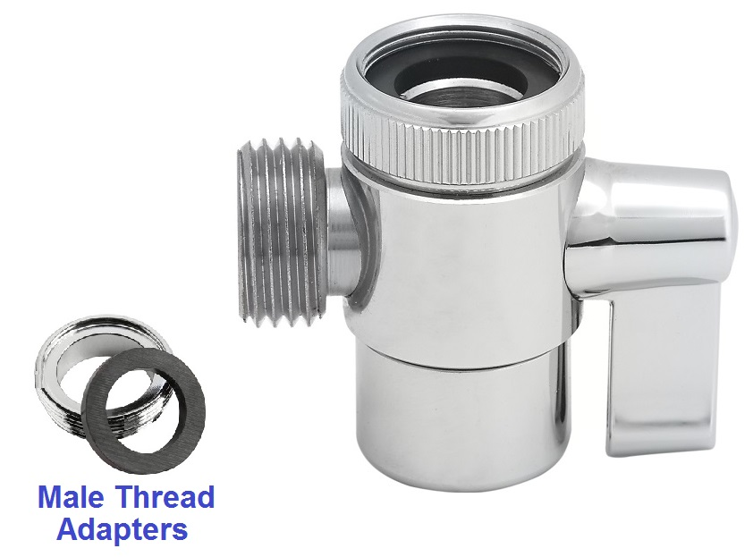 Brass Faucet Diverter Valve 1 2 Hose Threads