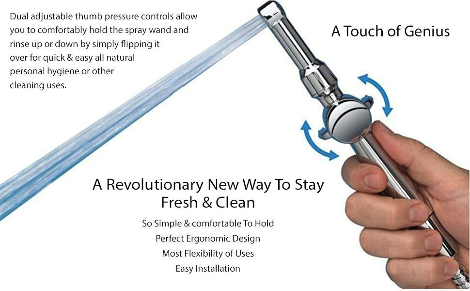 Hand Held bidet sprayer for toilet spray up